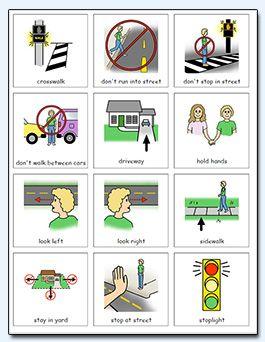 Pedestrian safety visuals.