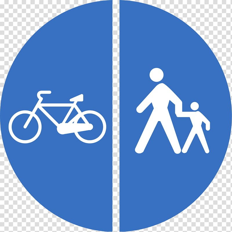 Traffic sign Mandatory sign Pedestrian Cycling, Road Sign.