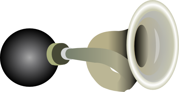 Bicycle horn clipart.