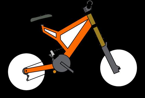 BMX bike vector.