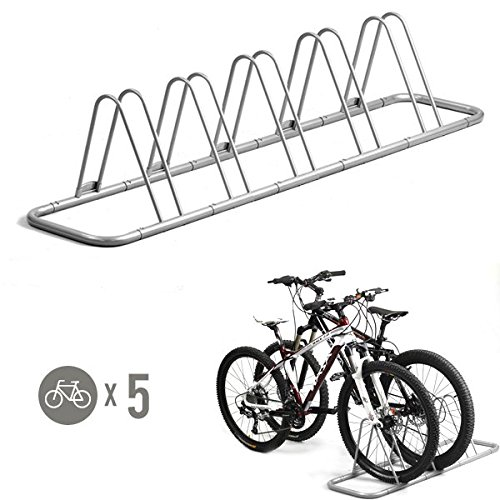 Amazon.com : 5 Bike Bicycle Floor Parking Rack Storage Stand by.