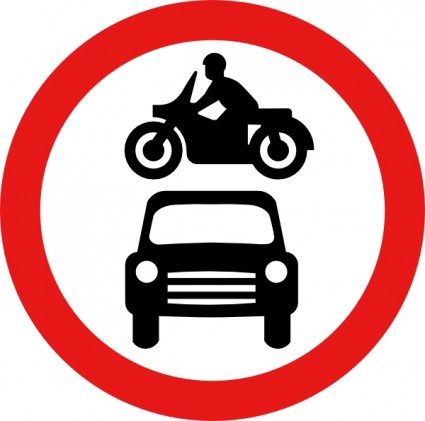 Motorcycle and car clipart.