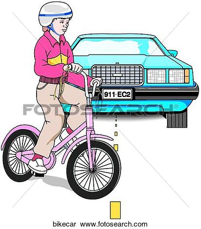 Stock Illustration of Bike Car Accident bikecar.