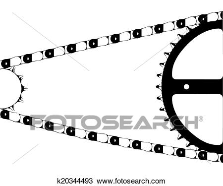 Bike Chain Clipart.