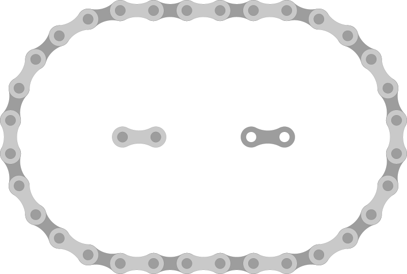 Free Clipart: Bike Chain Links.