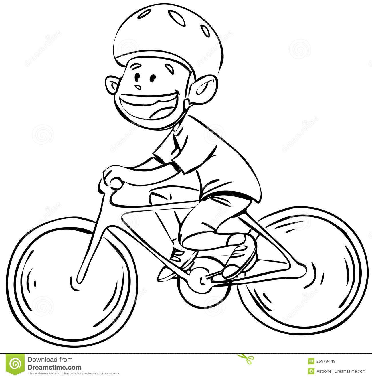 Riding Bicycle Clipart Black And White.