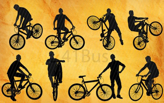 Bike Clip Art ,8 png Clipart , Instant Download,Barber icons.
