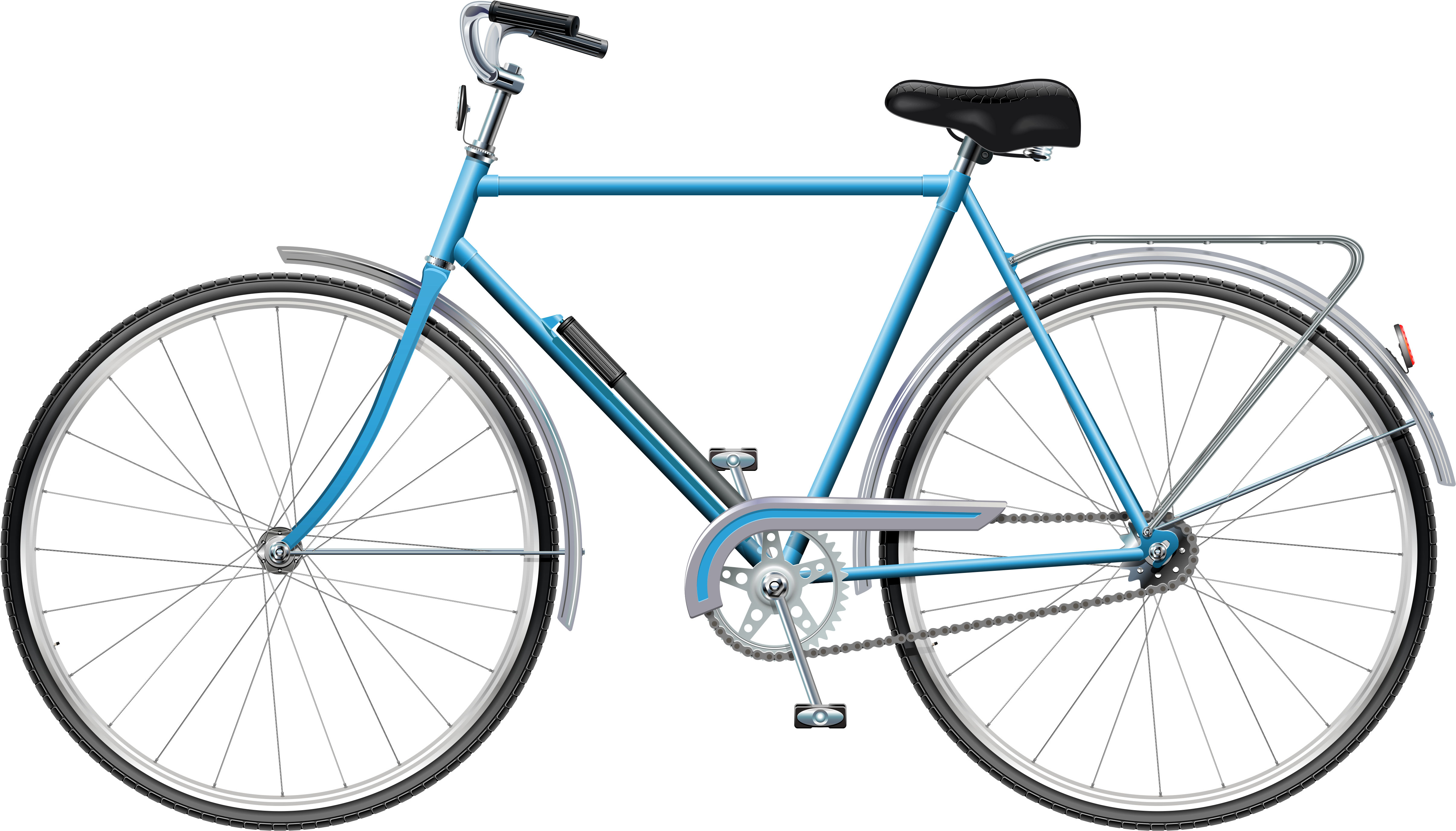 Blue Bicycle Png Clip Art.