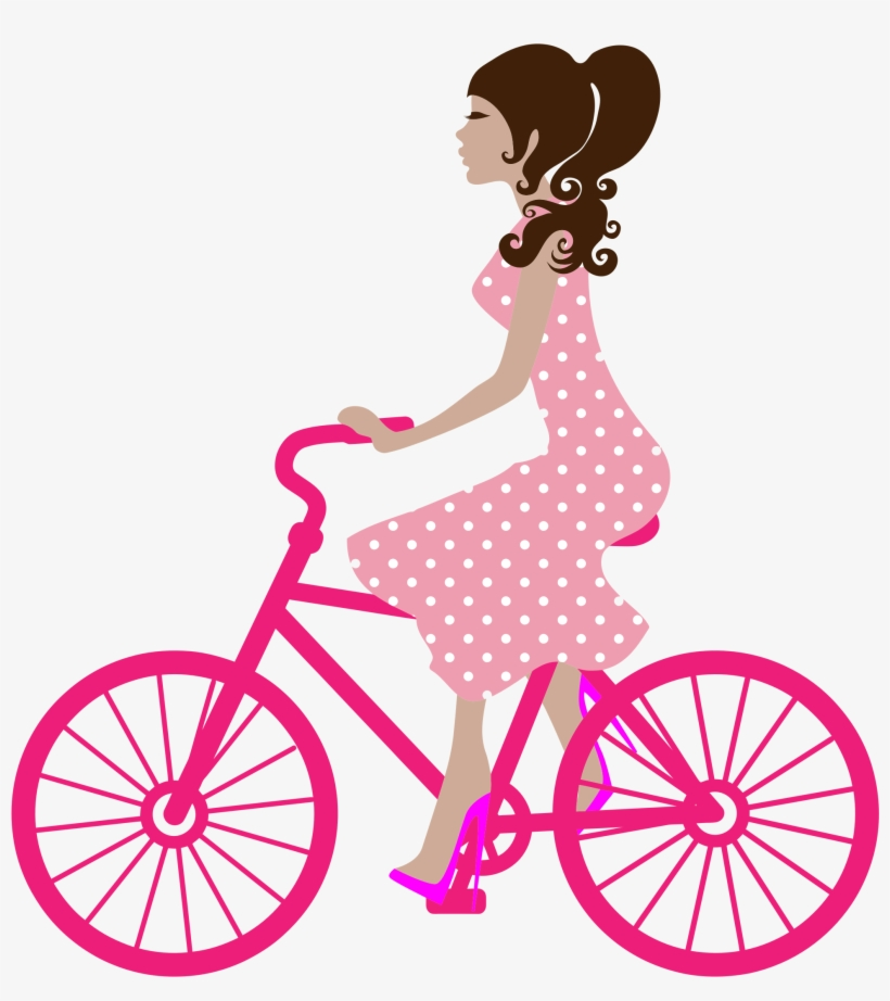 Girl On Bike Icons Png.