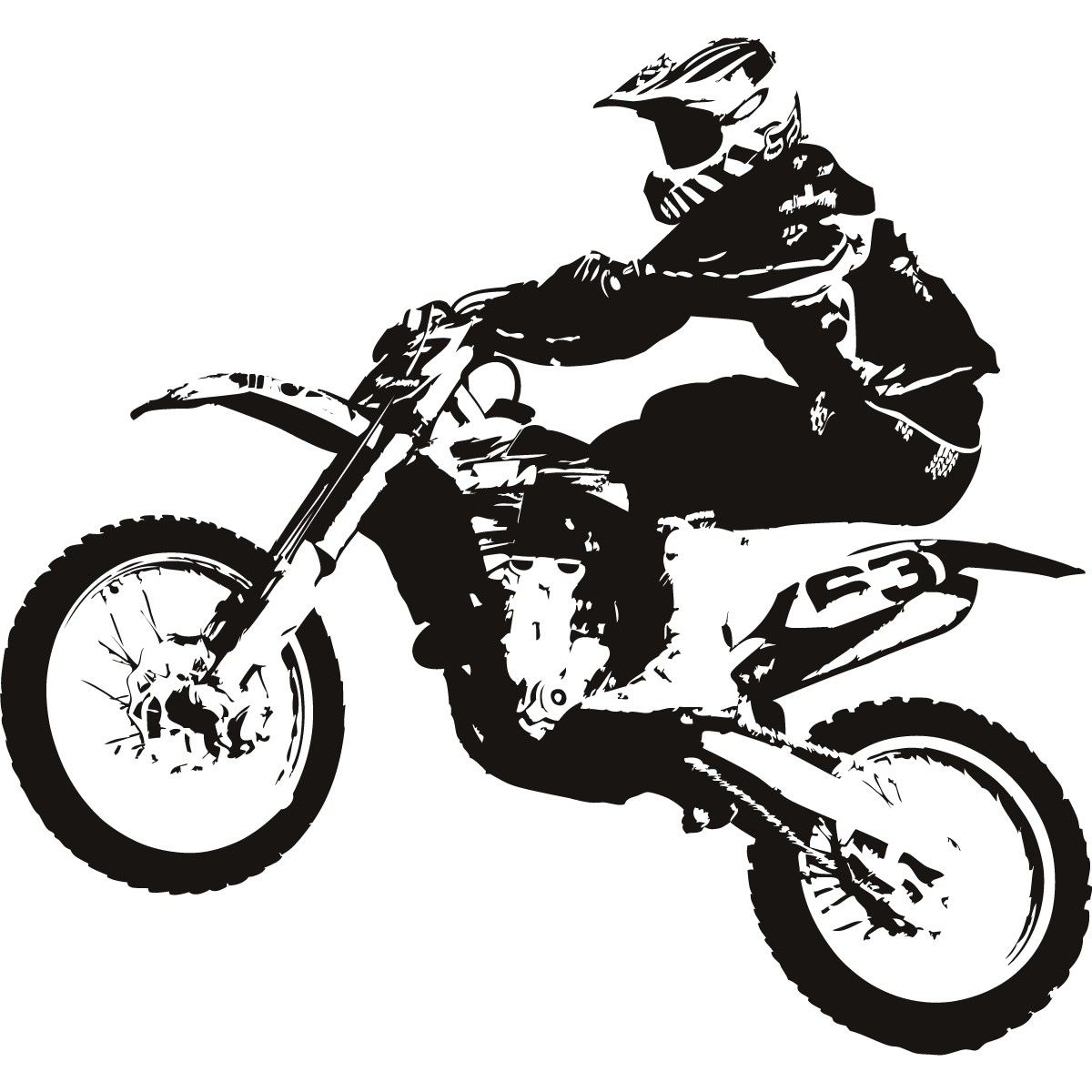 Free download Motocross Bike Clipart for your creation.