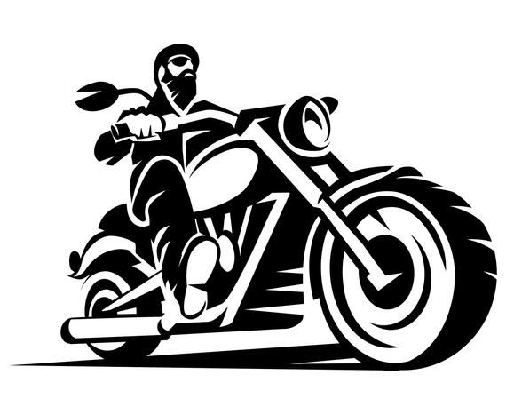 Biker, Bike, Rider, Motorcycle, Silhouette,SVG,Graphics.