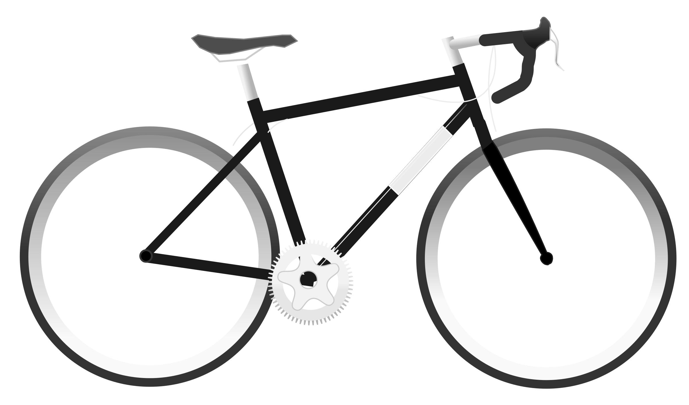 Simple Bike Clipart transparent PNG.
