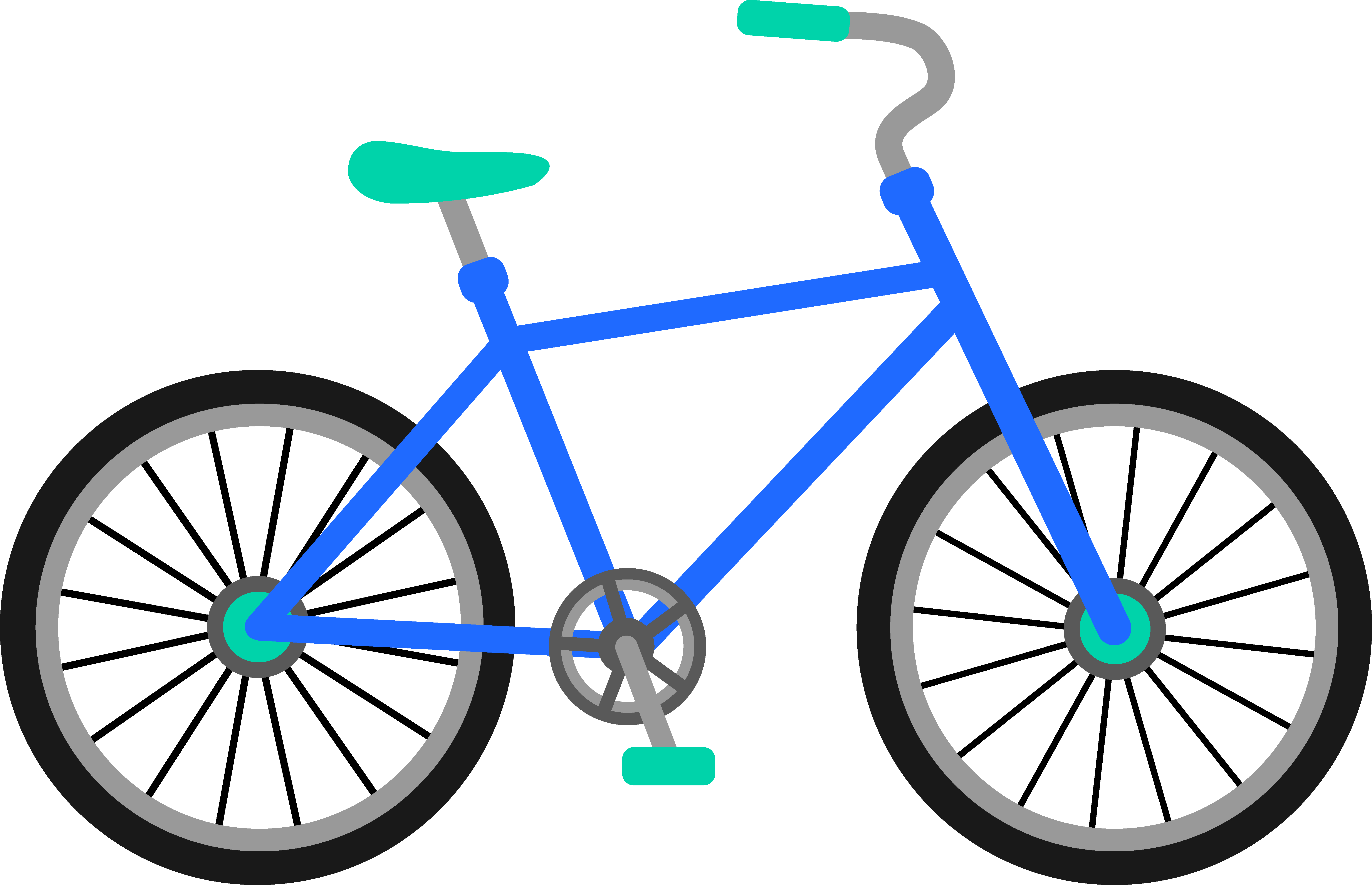 Clip Art: Transportation Bicycle Drawing Clip art.