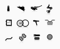 Bike Components Icon Set Stock Vector.