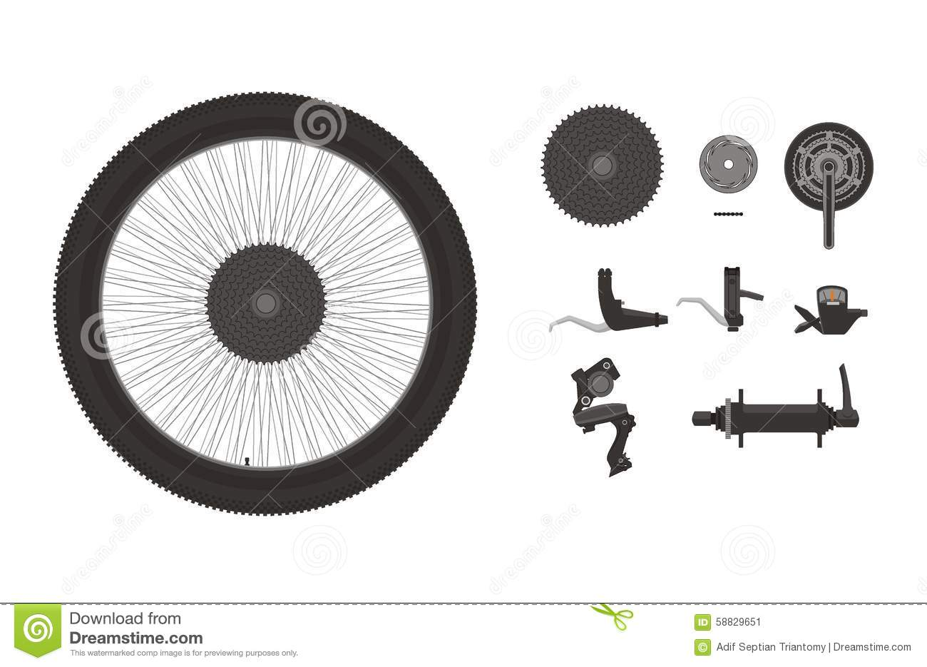 Bike Cogs Stock Illustrations.