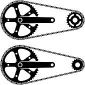 Clipart of vector bicycle gear cogwheel sprocket icon k15013892.
