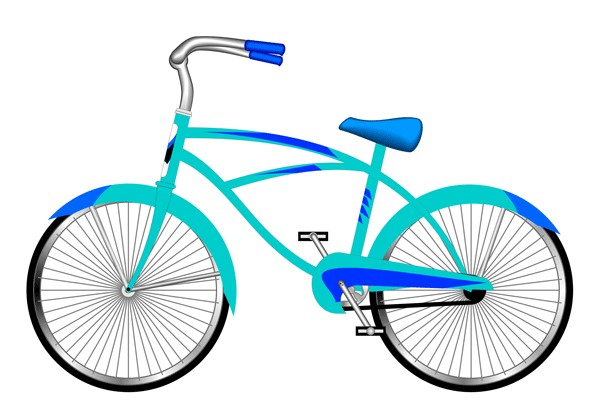 Bicycle clip art images.