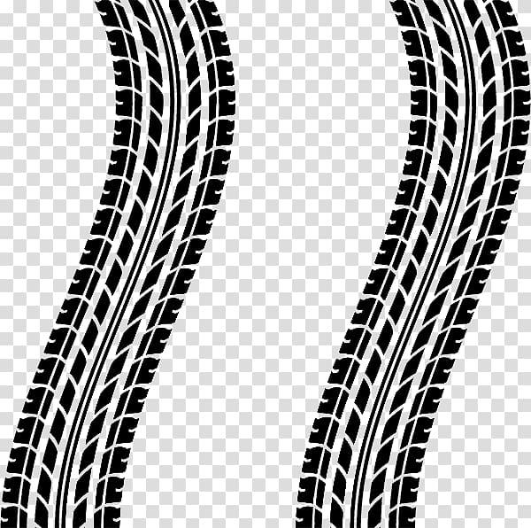 Tire tracks illustration, Car Tire Tread Continuous track.