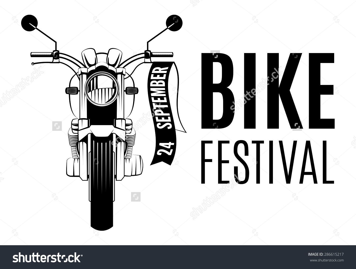 Motorcycle Logo Words Bike Festival Stock Vector 286615217.