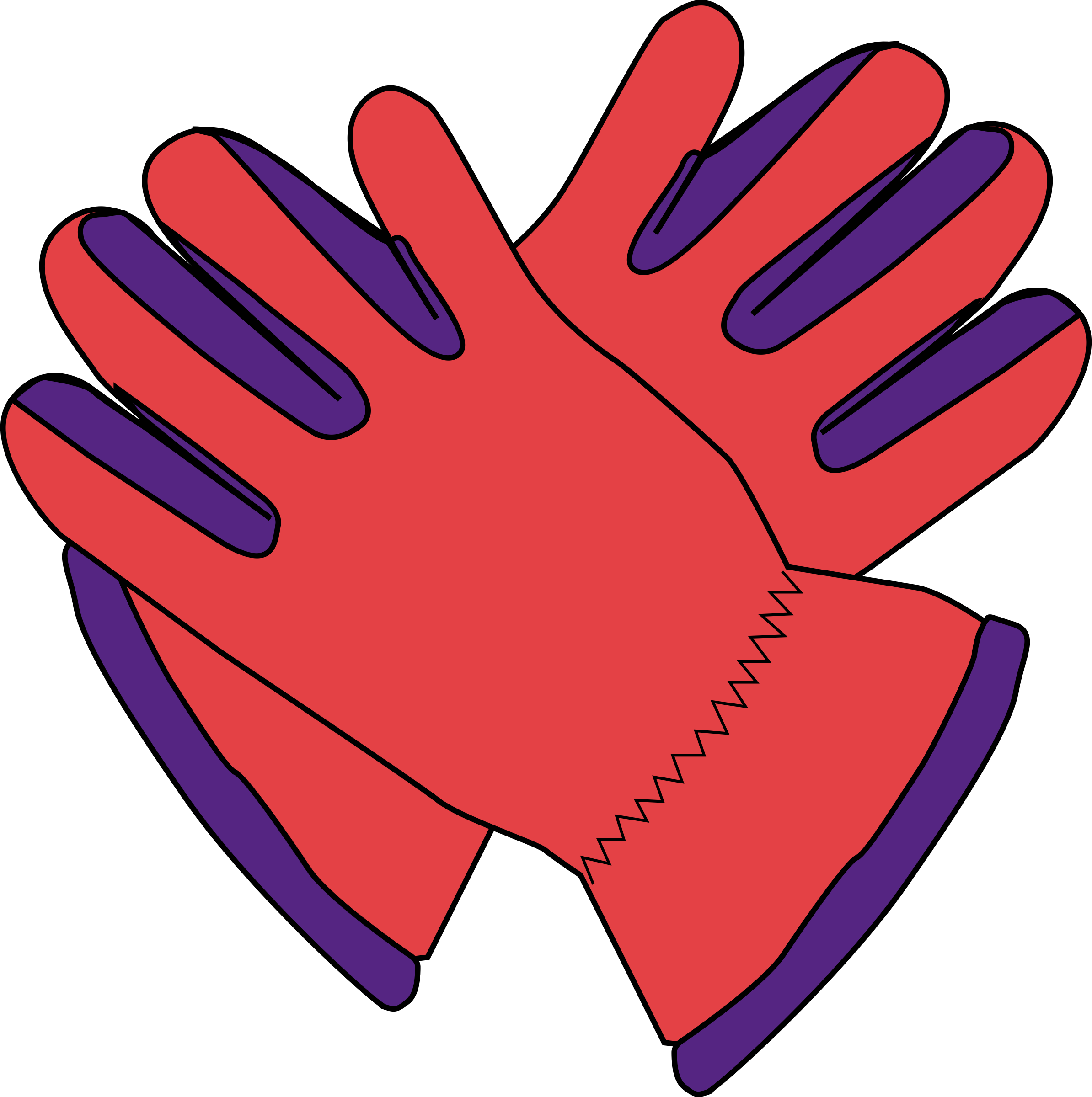 Work gloves png clipart.