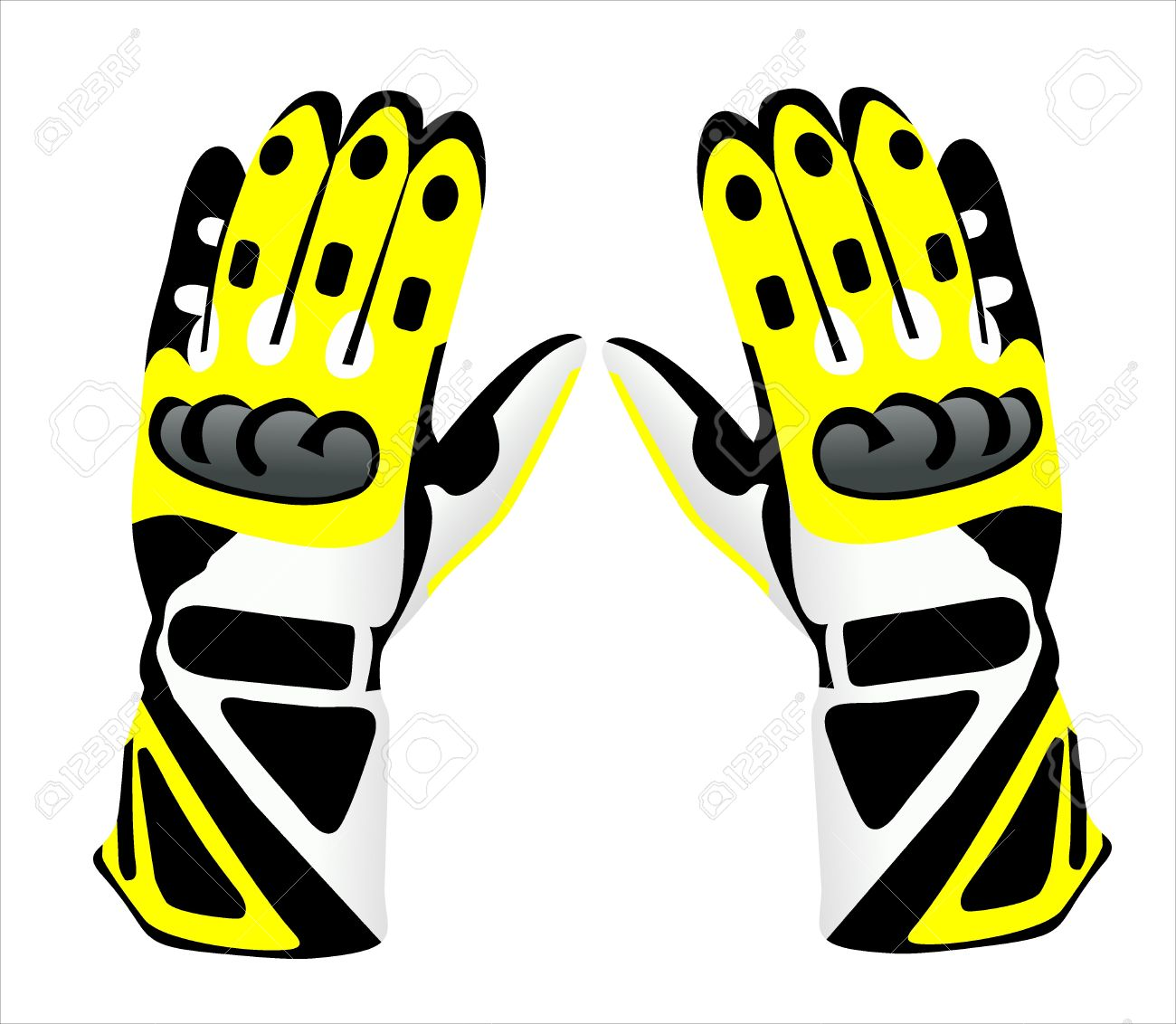 Motorcycle Gloves Royalty Free Cliparts, Vectors, And Stock.