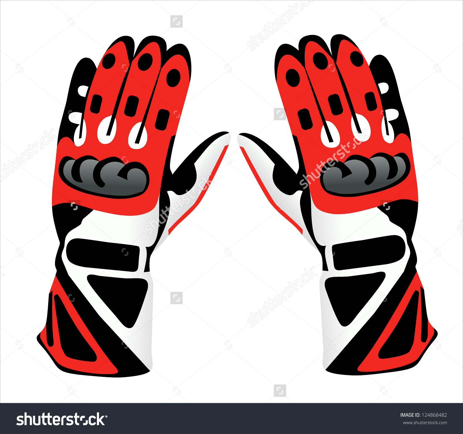 Motorcycle Gloves Stock Vector 124868482.