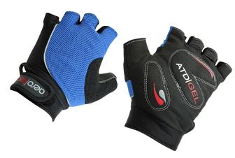 ATD Childrens Gel Padded Fingerless Bike Gloves BLUE.