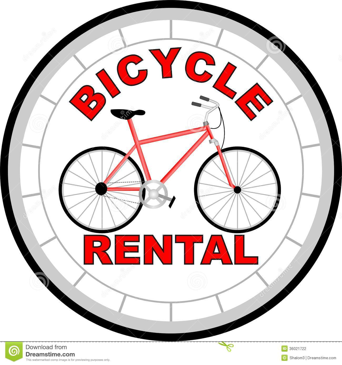 Logo Bicycle Rental Stock Photography.
