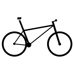 Bicycle Icon Silhouette clipart, cliparts of Bicycle Icon.