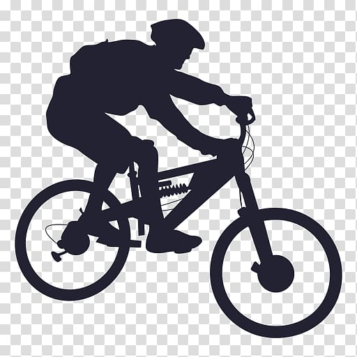 Man riding in bicycle illustration, Mountain bike Bicycle.