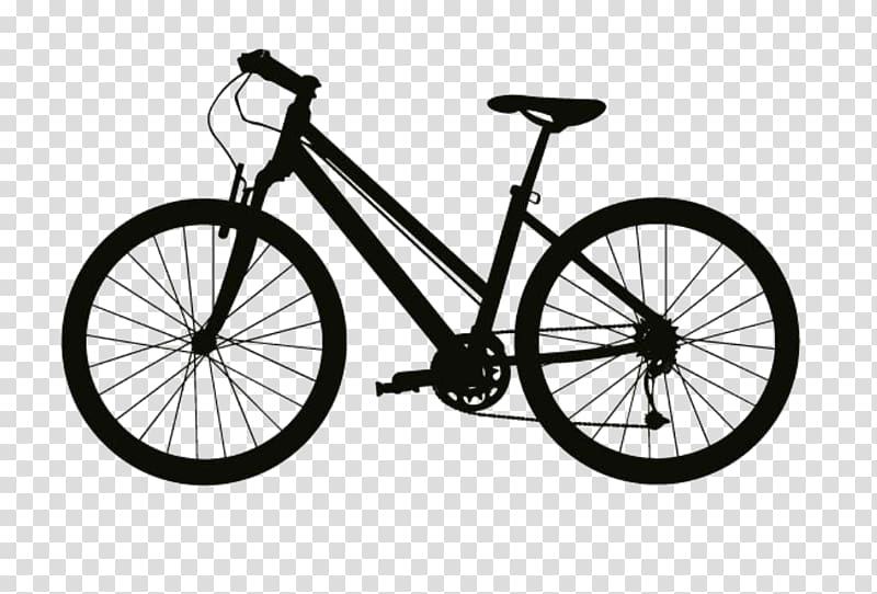 Black mountain bike illustration, Mountain bike Electric.