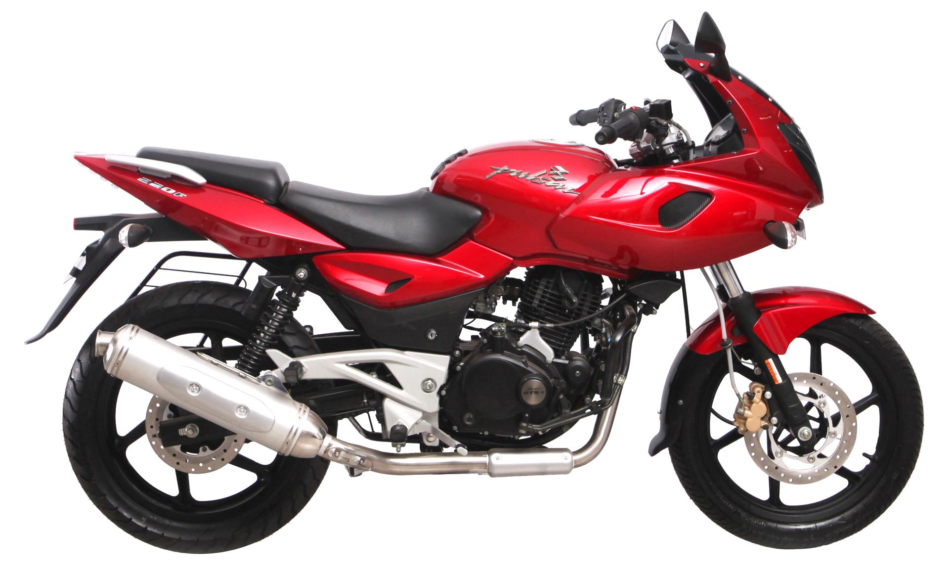 Bajaj Pulsar 220 Motorcycle Bike PNG Image.