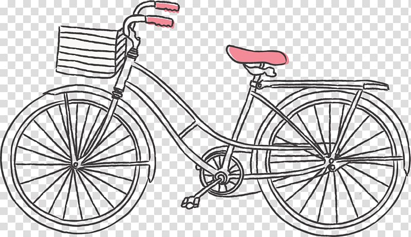 Bicycle Drawing , Decorative pattern of line bicycle.