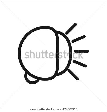 Bike Bicycle Light Beam Symbol Sign Line Icon On Background Stock.