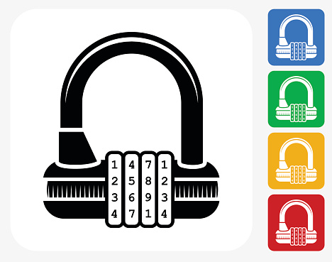 Bicycle Lock Clip Art, Vector Images & Illustrations.