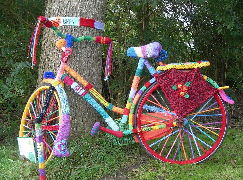 Dutch Bicycle Yarn bombing by Baykedevries.