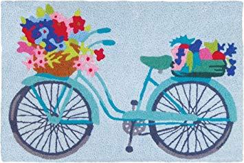 Jellybean Flower Basket On Bicycle Garden Indoor/Outdoor Machine Washable  21\