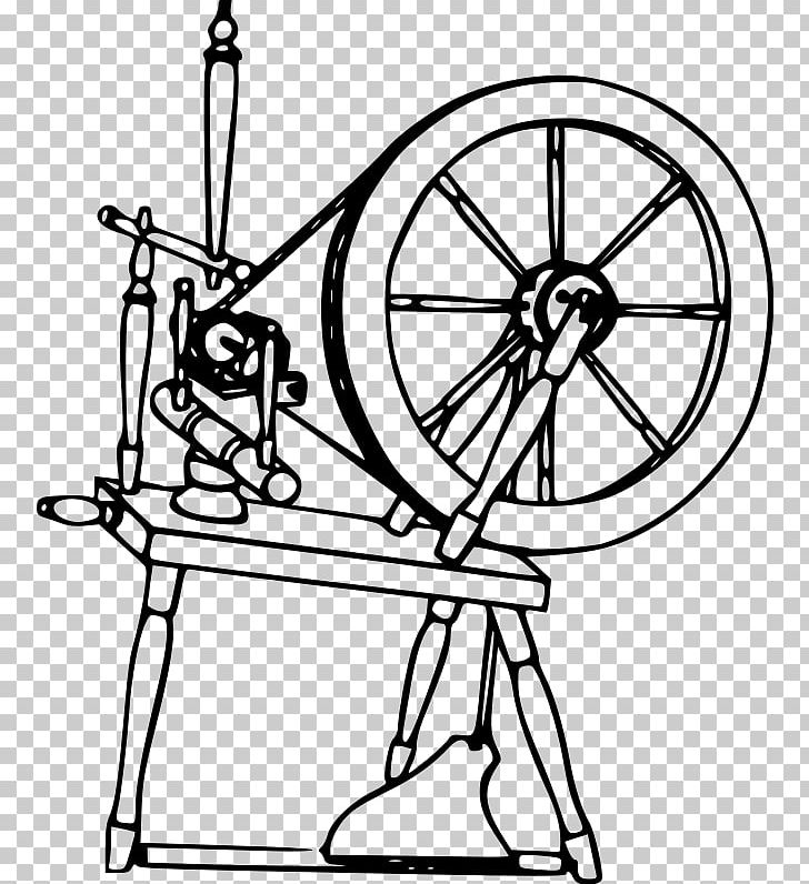 Spinning Wheel Drawing Yarn Textile PNG, Clipart, Angle.