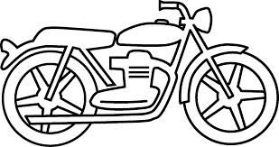 motorcycle clipart black and white.