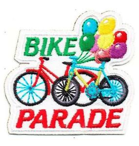 Details about Boy Girl cub BIKE PARADE race round up Fun Patches Crest  Badge GUIDE SCOUT work.