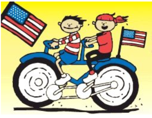 Kids on Bikes\' Brigade Precedes Memorial Day Parade.