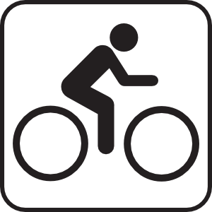 Bicycle map clipart.
