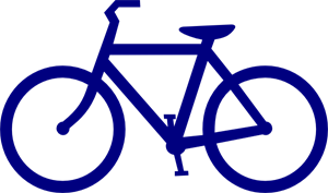 Blue Bike PNG, SVG Clip art for Web.