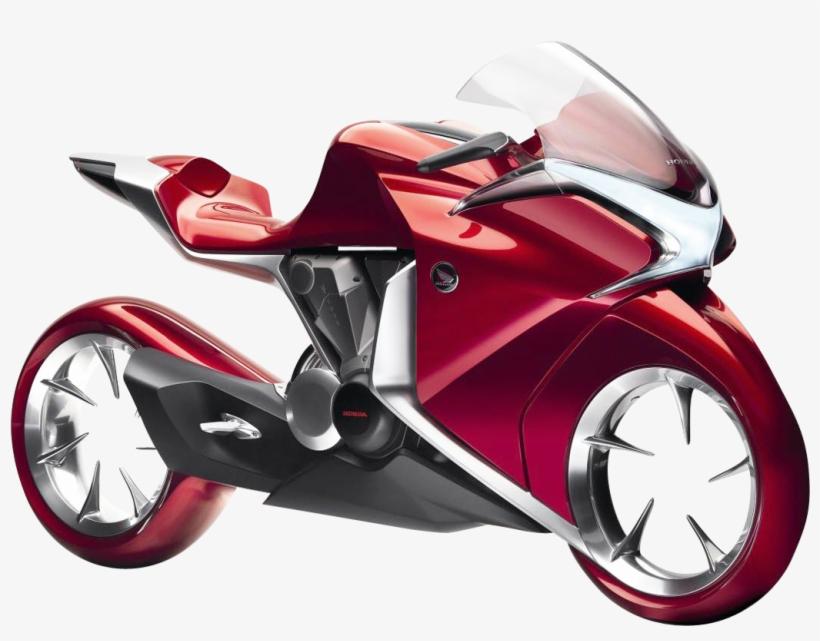 Honda V4 Concept Motorcycle Bike Png Image.