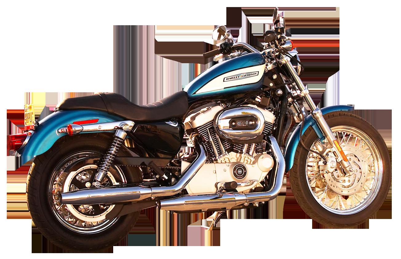 Harley Davidson Motorcycle Bike PNG Image.