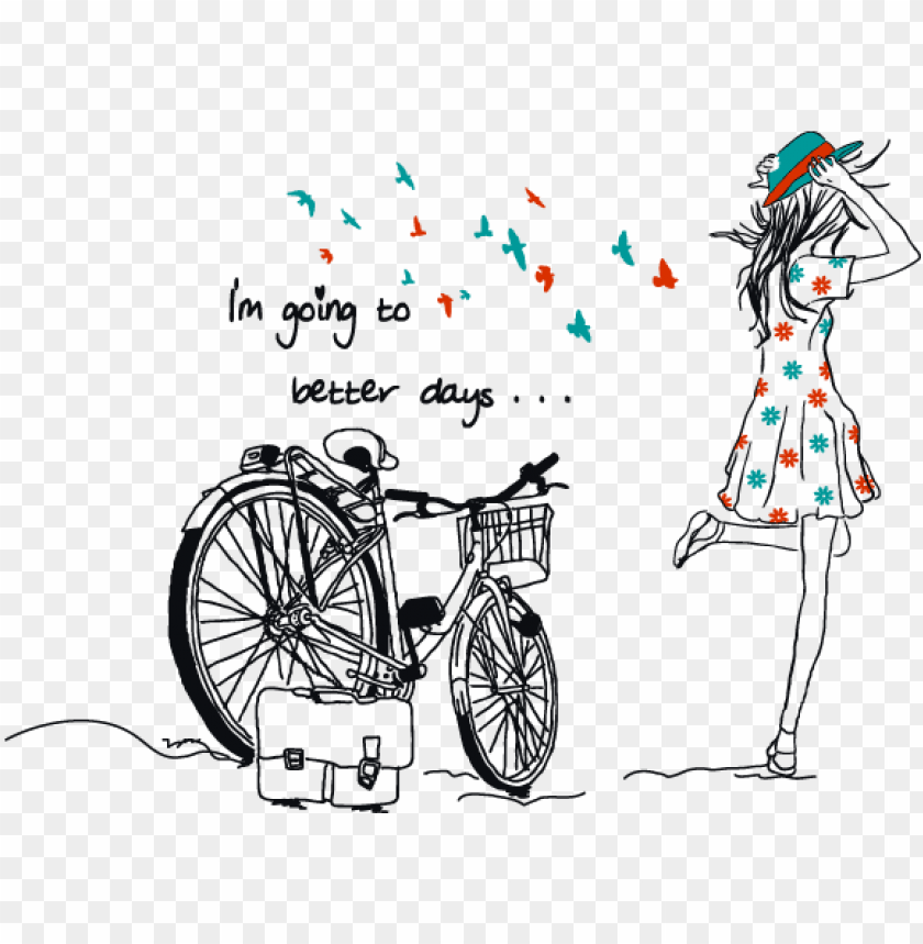 girl quotes who love riding bike PNG image with transparent.