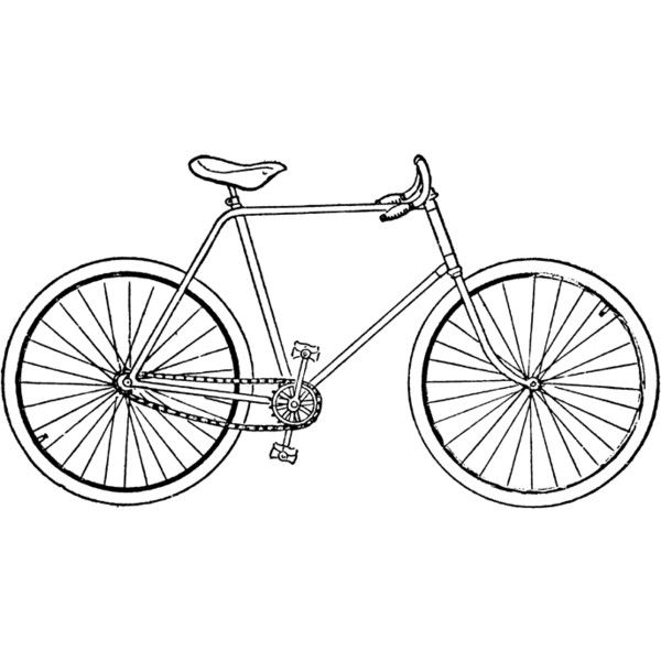 Safety Bicycle Clipart ❤ liked on Polyvore featuring.