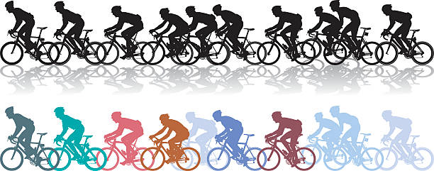 Best Cycling Race Illustrations, Royalty.
