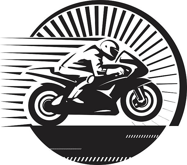 Best Motorcycle Racing Illustrations, Royalty.