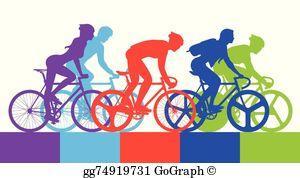 Bicycle Race Clip Art.